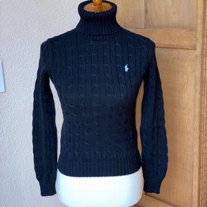 Ralph Lauren Sport Black Turtleneck Sweater SMALL